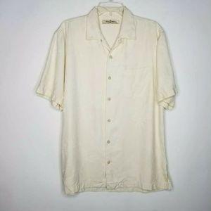 Tommy Bahama Men Medium M 100% Silk Hawaiian Shirt